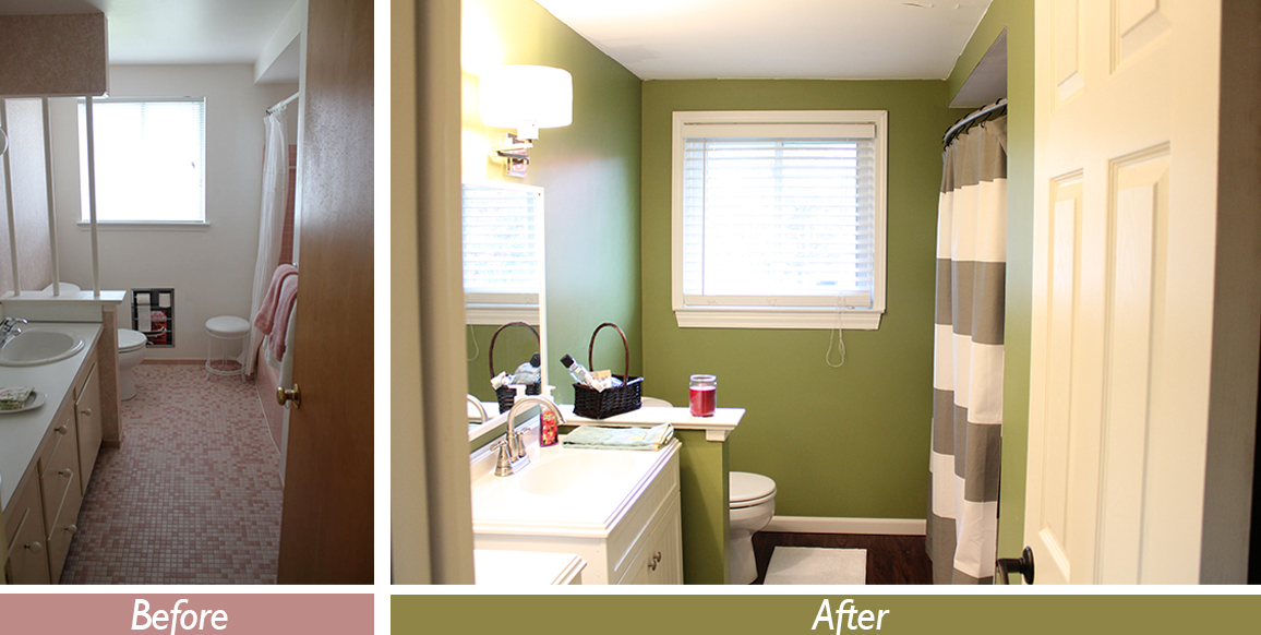 Bathroom remodel for under 1 500 this nest is blessed for Bathroom renovation before and after