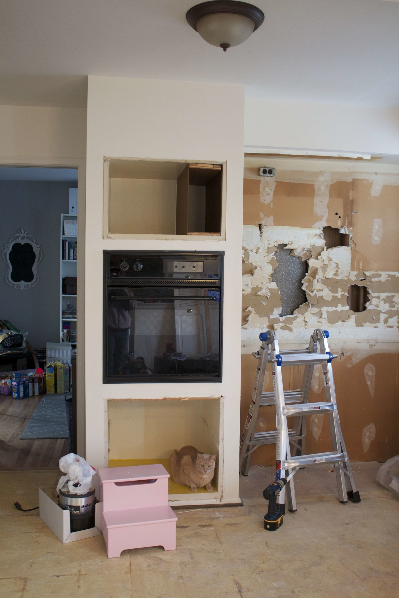 Built In Drywall Shelves Oven Oven On The Wall This Nest Is Blessed